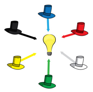 http://www.dreamstime.com/royalty-free-stock-image-six-thinking-hats-illustration-image35977096